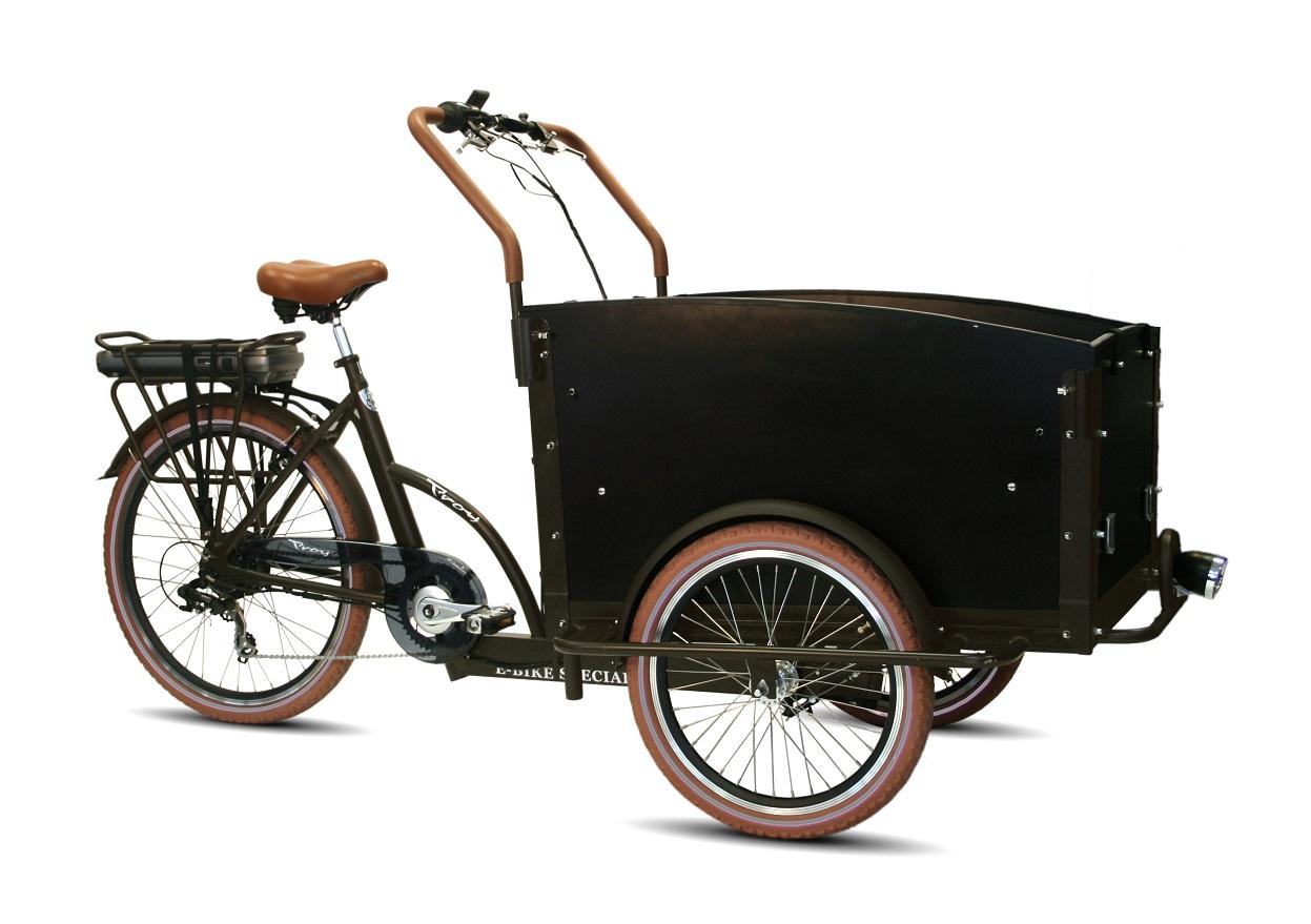 Bakfiets E-bike 7-speed bruin 36V 13Ah 250W