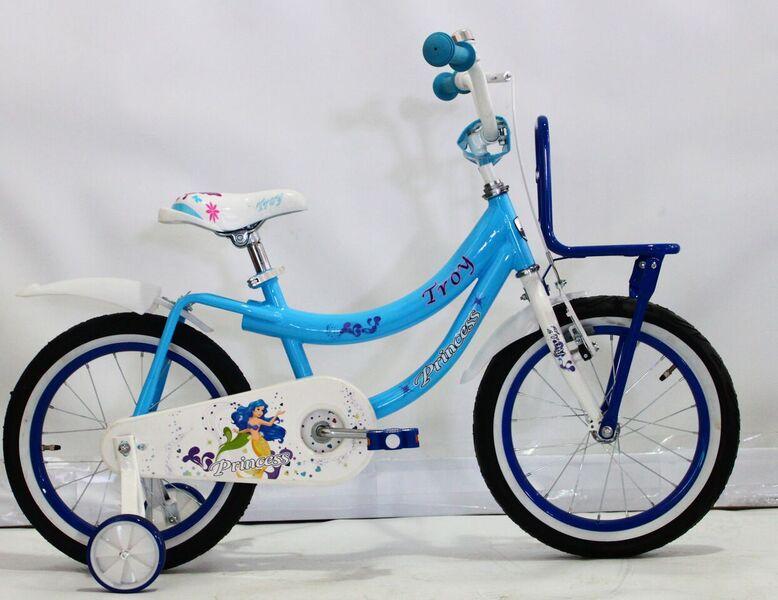 """Princess 16"""" incl. zijwielen baby blue"""